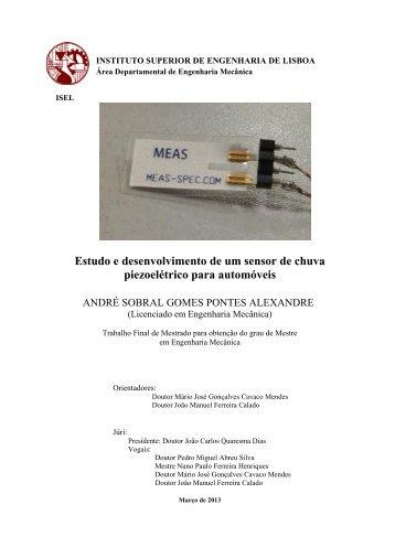 Estudo e desenvolvimento de um sensor de chuva piezoelétrico ...
