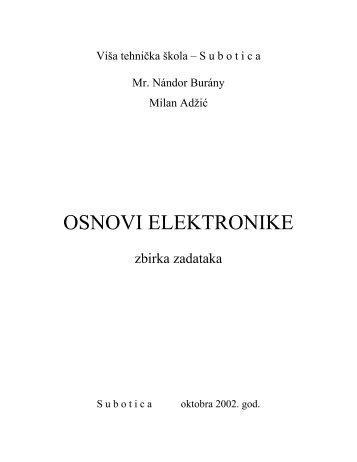 OSNOVI ELEKTRONIKE zbirka zadataka