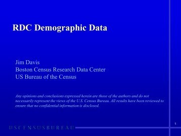 Demographic Data Power Point Introduction - Andrew Young School ...