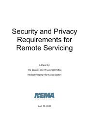 Security and Privacy Requirements for Remote Servicing - NEMA