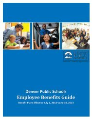 Employee Benefits Guide - Denver Public Schools