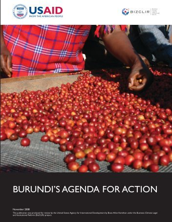 Burundi's AgendA for Action - Economic Growth