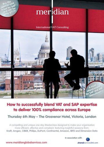 How to successfully blend VAT and SAP expertise to deliver 100 ...