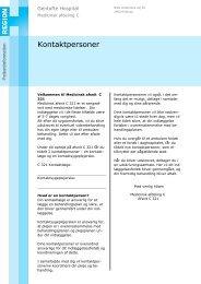 Kontaktpersoner - EPIS - Gentofte Hospital