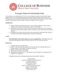 Ferengul Endowed Scholarship Fund - College of Business - Illinois ...