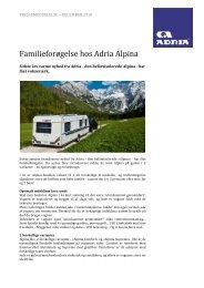 Familieforøgelse hos Adria Alpina