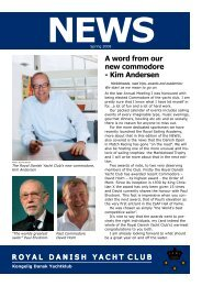 A word from our new commodore - Kongelig Dansk Yachtklub