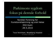Kursus: Psykisk sygdom og tandplejeforhold. - Nordisk Forening for ...