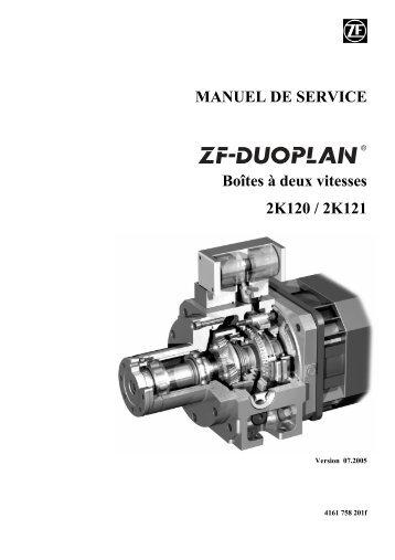 MANUEL DE SERVICE Boîtes à deux vitesses 2K120 / 2K121