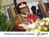 Politiseret civilsamfund i Swaziland - Danish Institute for Parties and ...