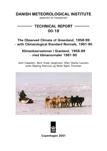 The Observed Climate Of Greenland 1958 99 Dmi Teknisk Rapport