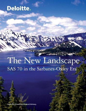 SAS 70 in the Sarbanes-Oxley Era - Deloitte