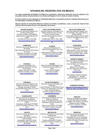 Registro estatal de tr mites empresariales for Oficina registro civil