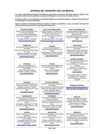 Registro estatal de tr mites empresariales for Oficinas registro civil