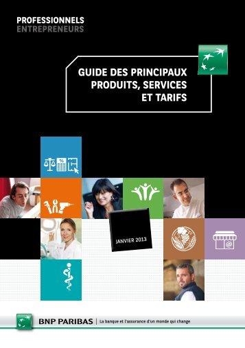 guide des principaux produits, services et tarifs - BNP Paribas