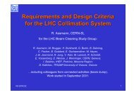 Requirements and Design Criteria for the LHC Collimation System
