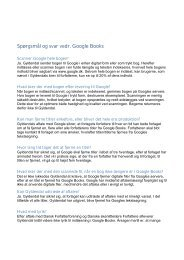 Spørgsmål og svar vedr. Google Books - Dansk Forfatterforening