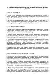 A magyarországi nemzetiségek jogi helyzetét szabályozó rendelet ...