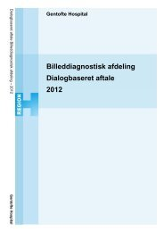 Billeddiagnostisk afdeling Dialogbaseret aftale ... - Gentofte Hospital