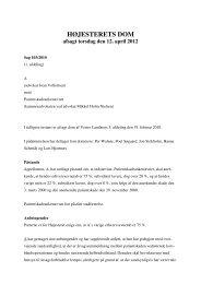 HØJESTERETS DOM afsagt torsdag den 12. april 2012