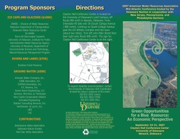 Directions Program Sponsors - American Water Resources ...