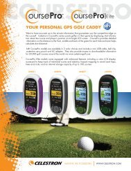 Celestron CoursePro Golf GPS - OpticsPlanet.com