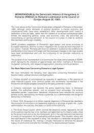MEMORANDUM by the Democratic Alliance of Hungarians in ...