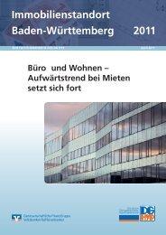 Immobilienstandort Baden-Württemberg 2011 - DG Hyp