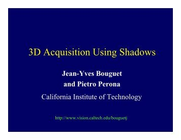 3D Acquisition Using Shadows