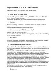Protokoll vom 14.04.2010 (PDF) - StugA Geowissenschaften der ...