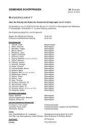 Datei zur Niederschrift - Gemeinde Schöppingen