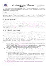 Les démarches du début de th`ese - Formation et Enseignement à l ...