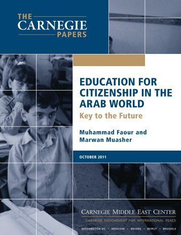 Education for Citizenship in the Arab World - Carnegie Endowment ...