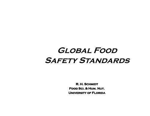Global Food Safety Standards - Food