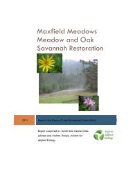 Maxfield meadows 2012 Report and Restoration Plan - Institute for ...