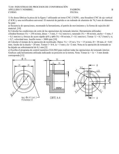 Ejercicio de CNC