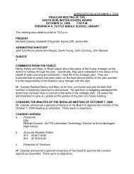 October 21, 2009 - South Burlington School District