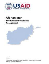 Afghanistan Economic Performance Assessment - Economic Growth ...