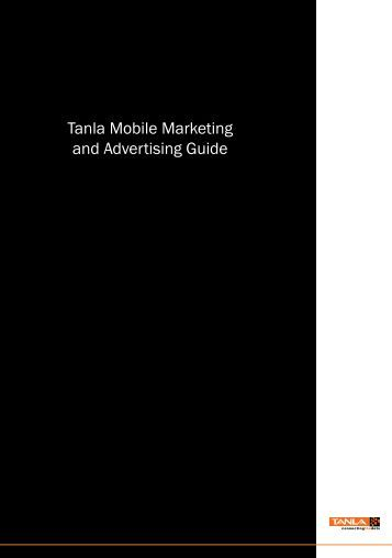 Tanla Mobile Marketing and Advertising Guide - Krick