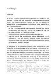 Kroaten in Ungarn Geschichte Die Kroaten in Ungarn sind ...