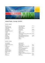 Aktuelle Playlist – Sonntag, 14.04.2012