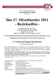 Das 17. Mixedturnier 2011 - Tischtennis-Kreisverband Peine eV ...