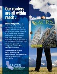 Advertise in SACRS Magazine