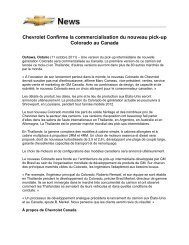 Chevrolet Confirme la commercialisation du nouveau ... - Opel Media