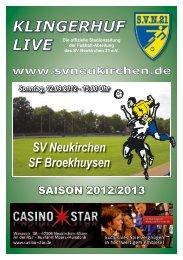 Stadionheft Nr.01 - SV Neukirchen - SV Neukirchen 21 e.V.