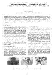 formation of gradiental and composite zones near non-metallic ...