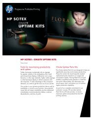HP SCITEX—ONSITE UPTIME KITS Tools for maximizing ...