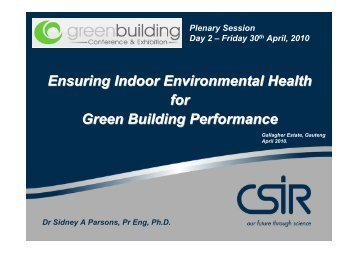 Indoor Environmental Health - Alive2green