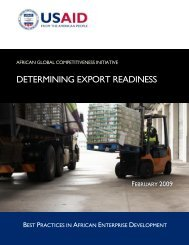 AGCI - Determining Export Readiness - Economic Growth - usaid