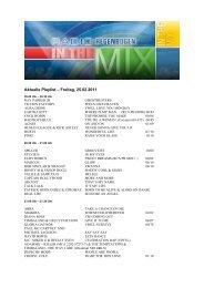 Aktuelle Playlist – Freitag, 25.02.2011
